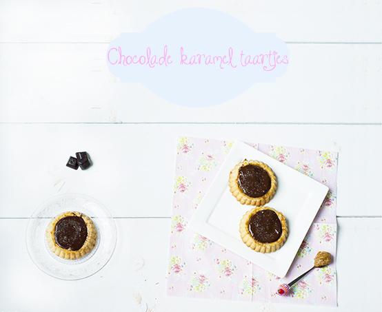 Chocolade karamel taartjes met zeezout
