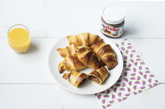 Nutella fruit croissants