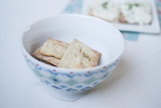 Crackers met rozemarijn en zeezout