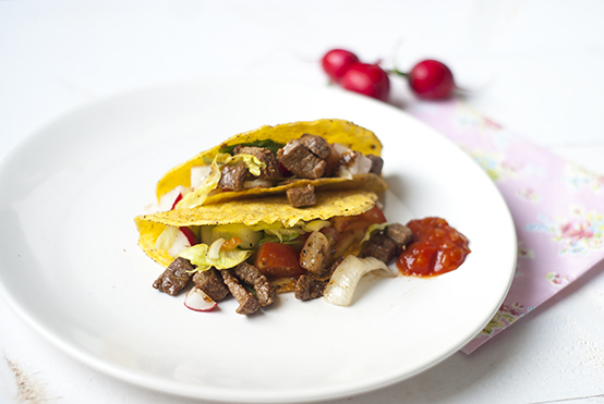 Tacos met rundvlees