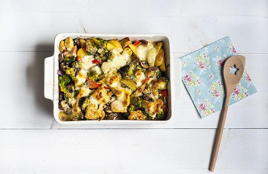 ovenschotel met pittige kip en pesto
