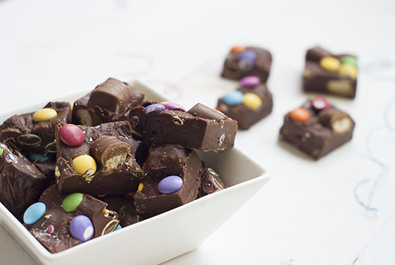 twix m&m fudge