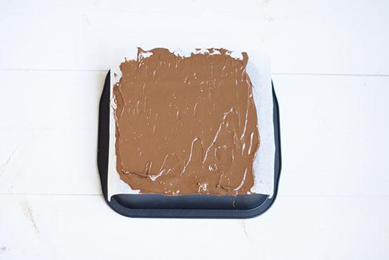 zelfgemaakte chocoladereep