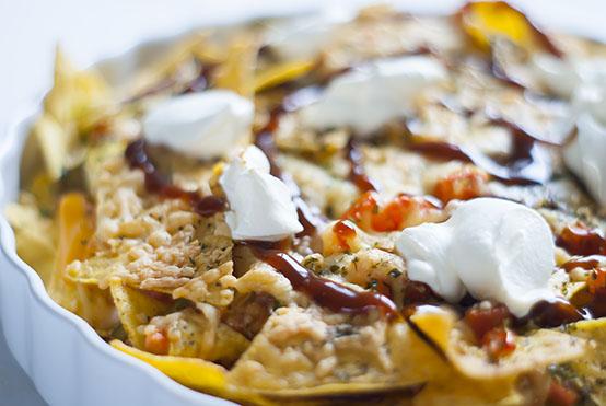 bbq chicken nacho's