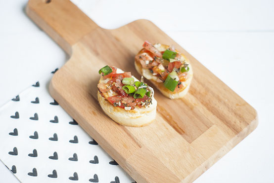 bruschetta met mozzarella