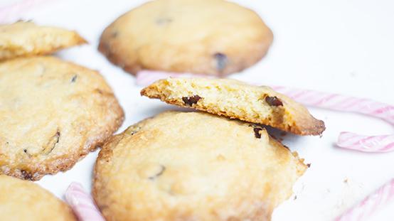 Cranberry koekjes met witte chocolade