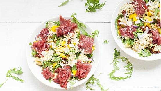 Carpaccio pastasalade