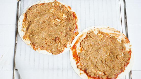Turkse pizza met kip